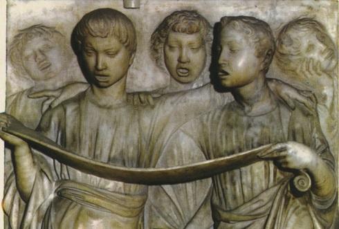 Coro de Luca della Robbia, detalle. Museo de S. Maria del Fiore, Florencia
