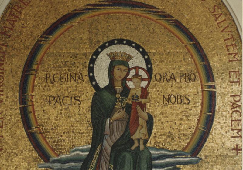 Reina de la Paz que se venera en la Abadía