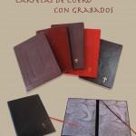 Carpetas de cuero con grabados