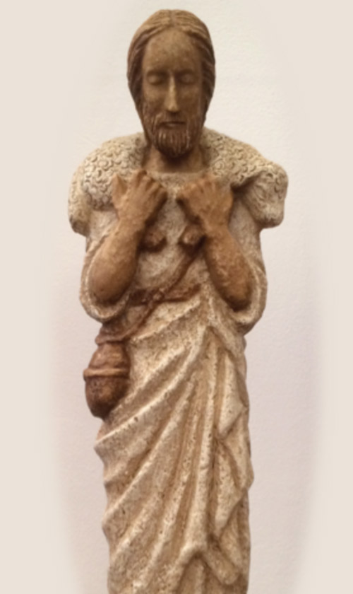 Estatuilla de Cristo Buen Pastor