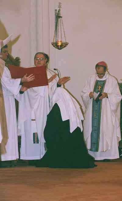 Consagración de vírgenes en la Abadía