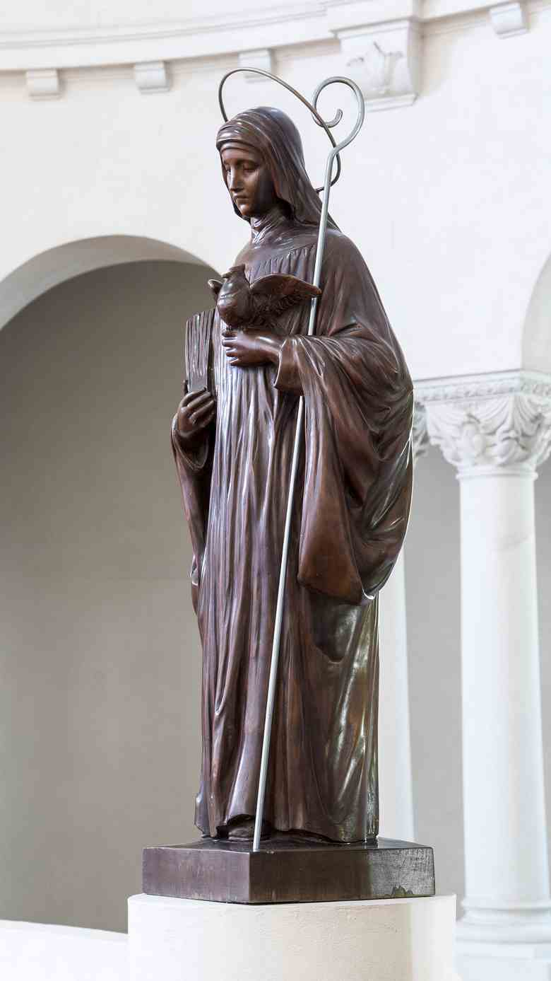 Santa Escolástica, talla en madera